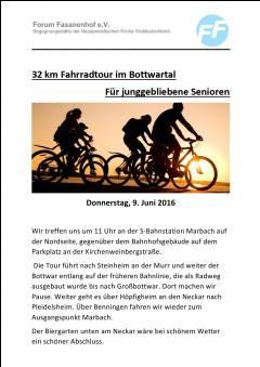 Fahrradtour durchs Bottwartal u. Neckartal