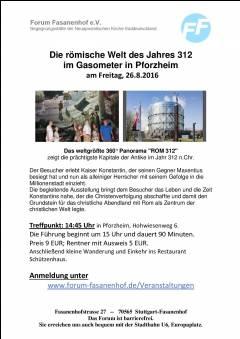 Besuch bei Gasometer, Pforzheim