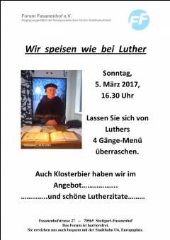 Wir speisen wie bei Luther-gewürzt mit Lutherzitaten