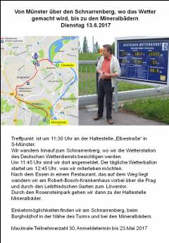 Spaziergang zum Wetteramt - Schnarrenberg