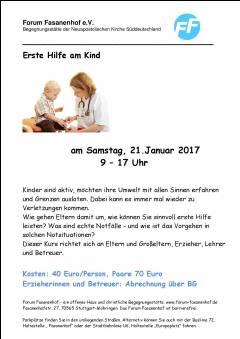 Erste Hilfe am Kind für Betreuer und Interessierte