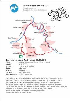 Fahrradtour Schmidener Feld - Rems - Neckar