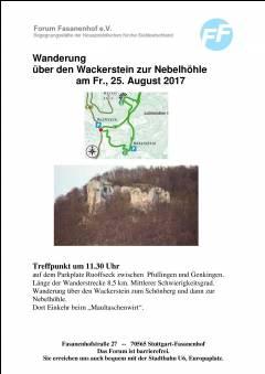 Albwanderung über den Wackerstein zur Nebelhöhle