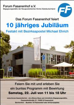 Festakt 10 jähriges Jubiläum FF mit anschließendem Sommerfest