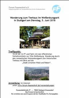 Wanderung zum Teehaus in Stuttgart