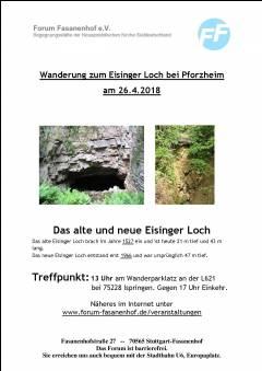 Wanderung bei Pforzheim zum Eisinger Loch