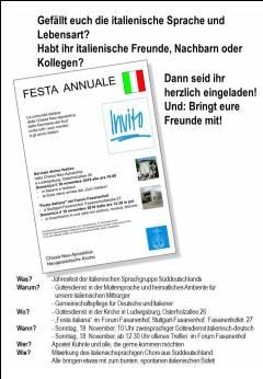 Festa italiana- Treffen der italienischen Gemeinde