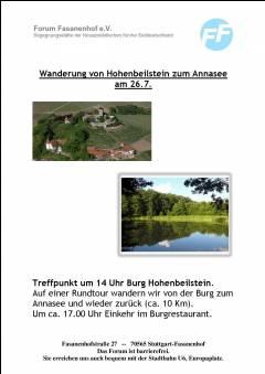 Wanderung von Burg Hohenbeilstein zum Annasee