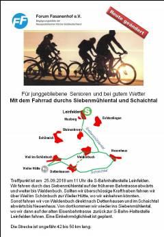 Fahrradtour durchs Siebenmühlental und Schaichtal