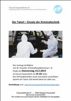 Der Tatort - Einsatz der Kriminaltechnik