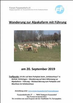 Wanderung zur Alpakafarm mit Führung