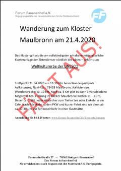 Wanderung und Führung - Kloster Maulbronn